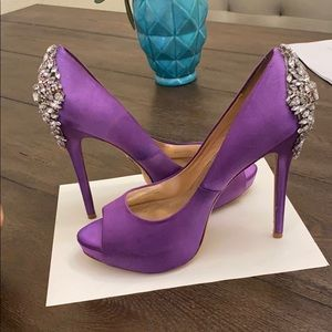 Badgley mischka heels (purple)